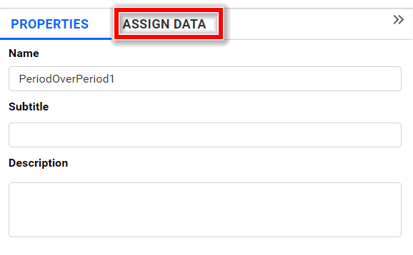 period over period assign data tab