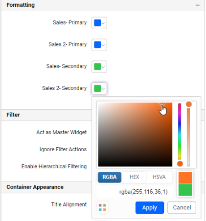 chart color palette option for period over period