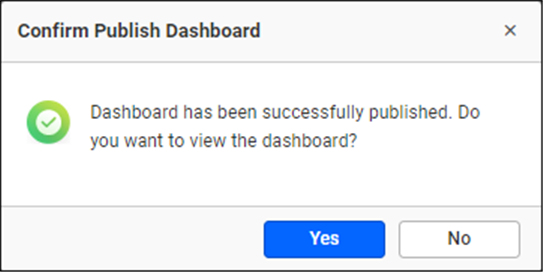 Confirm View dashboard