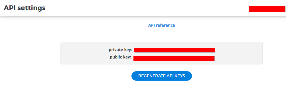 Reveal API Key