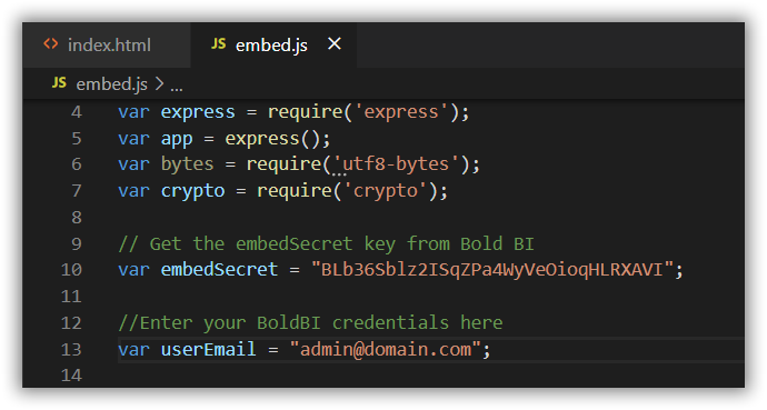 Embed Properties in Embed