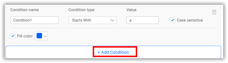 add conditions