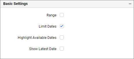 basic settings of date picker