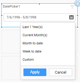 showcasing relative date options in date picker