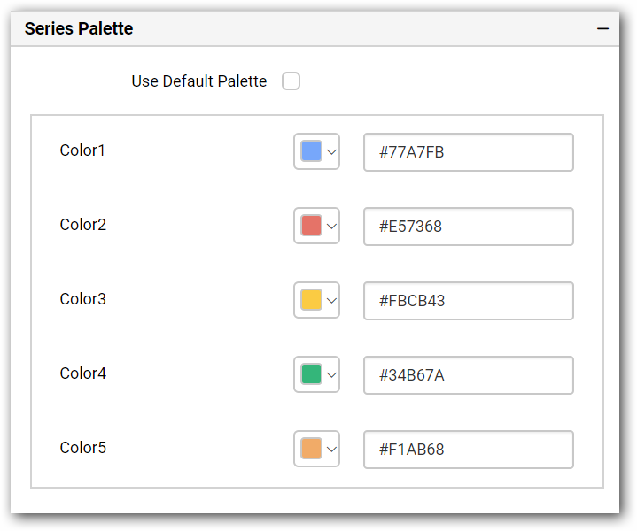 Use Default Palette