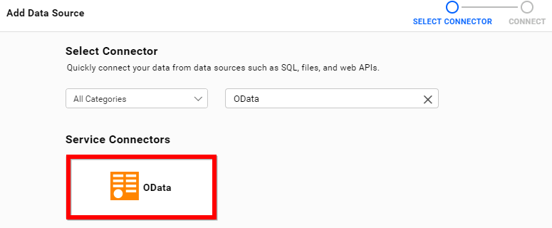 Choose data source from server
